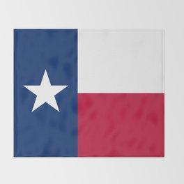 State flag of Texas Throw Blanket