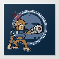 Automated Laser Monkey Canvas Print