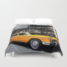NY Yellow Cabs Painting Duvet Cover
