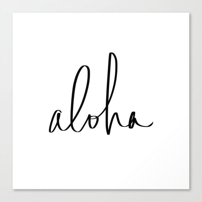 Aloha Hawaii Typography Leinwanddruck