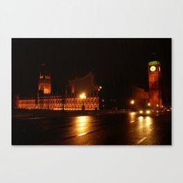 Big Ben - Night Lights Canvas Print