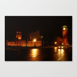 Big Ben - Night Lights Canvas Print