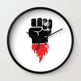 Resist Fist Wall Clock