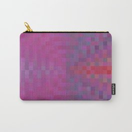 geometric square pixel pattern abstract background in pink and blue Carry-All Pouch