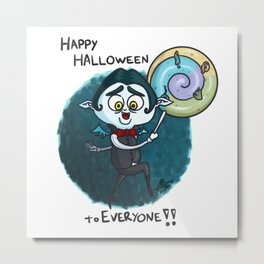 Vampy - Happy Halloween to Everyone!! Metal Print