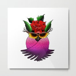 Nature Owl Metal Print