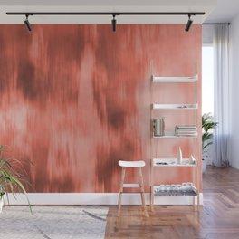 Pantone Living Coral Fusion Abstract Watercolor Blend Wall Mural