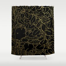 Hide (Gold) Shower Curtain