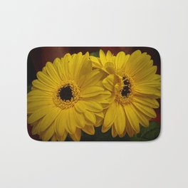 Yellow African Daisy at Barthel's Farm Market Bath Mat