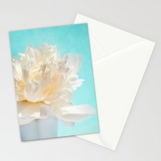 WHITE PEONY-DREAM Stationery Cards