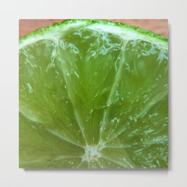 Lime Green and Fresh Metal Print