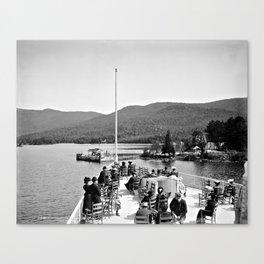 Vintage Lake George: Huletts Landing Canvas Print