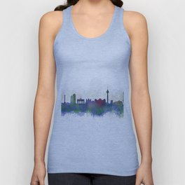 Berlin City Skyline HQ3 Unisex Tank Top