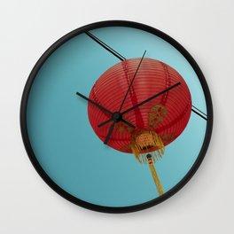 Chinese Lantern in Chinatown LA Wall Clock