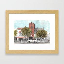 Sketching in Clovis, California Framed Art Print