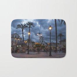 Sundown, Plaza Mayor Merida Spain Bath Mat