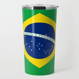 Brazilian National flag Authentic version (color & scale) Travel Mug