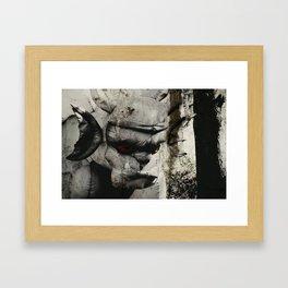 Ghoulish Gargoyle Framed Art Print