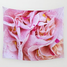 Strawberry Blonde Camellia Wall Tapestry