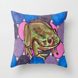 Frog #1 Throw Pillow