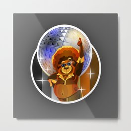 Disco Bear Metal Print