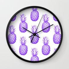 Purple Pineapple Wall Clock