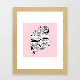 lazy perfectionist Framed Art Print