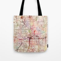 atlanta Tote Bags featuring Atlanta by MapMapMaps.Watercolors