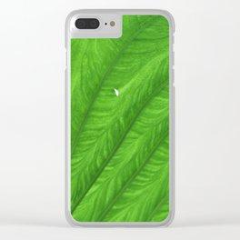 Green Leaf Clear iPhone Case