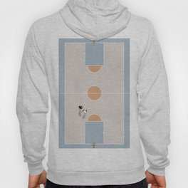 Shooting Hoops From Above  Hoody