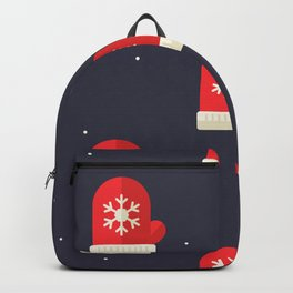Red Christmas Gloves Pattern Backpack