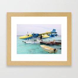 Maldivian Transport - The DHC6 Twin Otter Framed Art Print