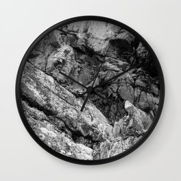 Rocky Cliff Face Wall Clock