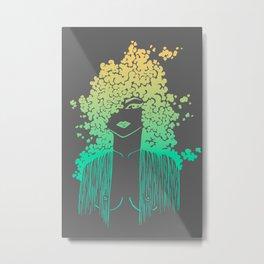 Silhouette gradient of a girl Metal Print