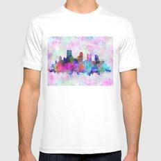 pittsburgh city skyline White MEDIUM Mens Fitted Tee