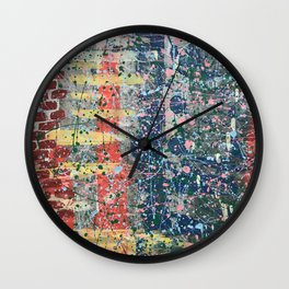 Graffiti art pattern print design Wall Clock