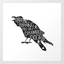 Rapping, Rapping At My Chamber Door Art Print
