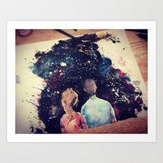Universe Couple Art Print