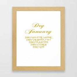 Dry January Allowed Drinks List Framed Art Print