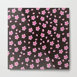 Sakura Pattern_C Metal Print