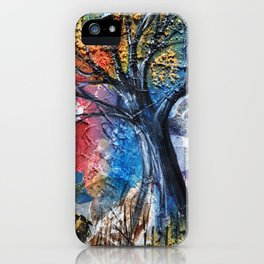 Black Ink on Rainbow Sky iPhone Case