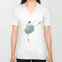 ballet V-neck T-shirts featuring BALLET by Kiley Victoria