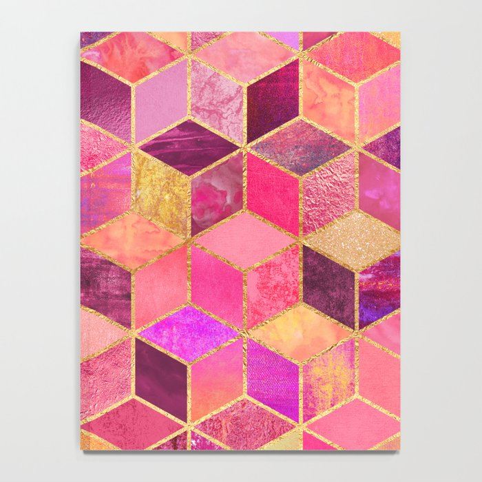 Pink Cubes Notebook
