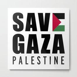 Save Gaza Quote Metal Print