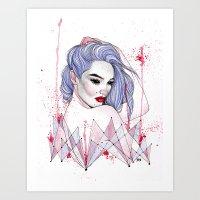 splatter Art Prints featuring Splatter  by Rose Ellen Swenson