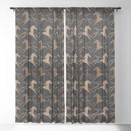 Horse Nation Sheer Curtain