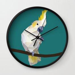 Cockatoo. Wall Clock
