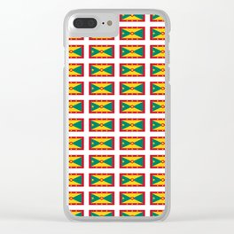 flag of grenada -grenadian,grenadines,Saint georges,grenville,Gouyave,Carriacou,nutmeg Clear iPhone Case