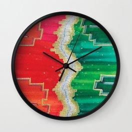 Mending the Rift - Red, Green & Gold Wall Clock