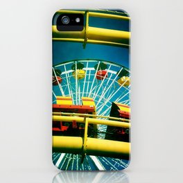 Santa Monica Pier Rollercaster iPhone Case